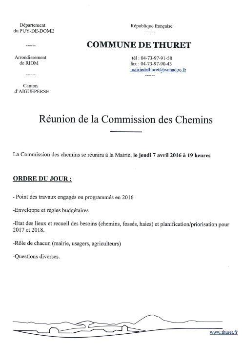 Commission des chemins