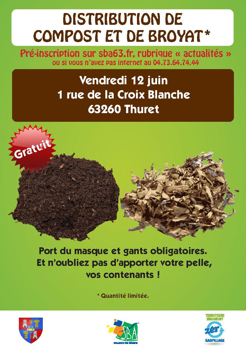 Distribution gratuite de compost et de broyat* – Thuret